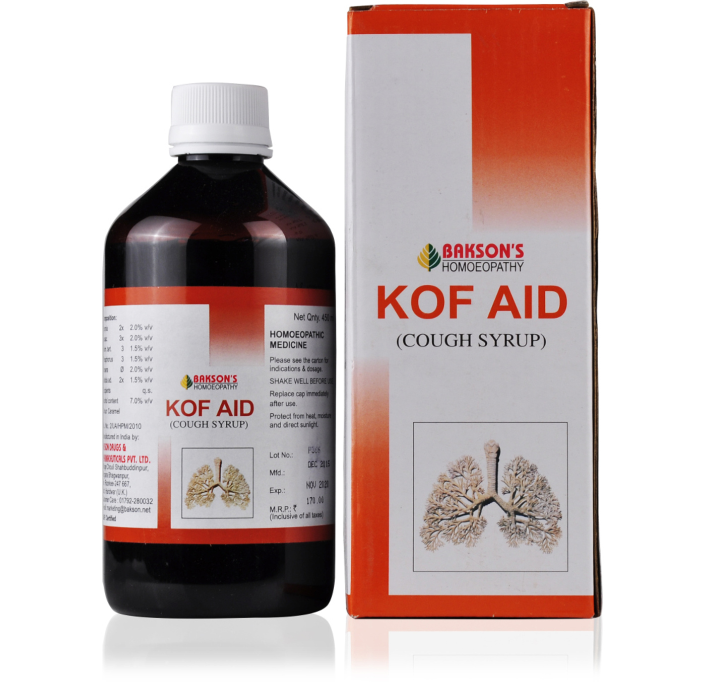 Bakson Kof Aid Cough Syrup Homeopathy Treatment style=