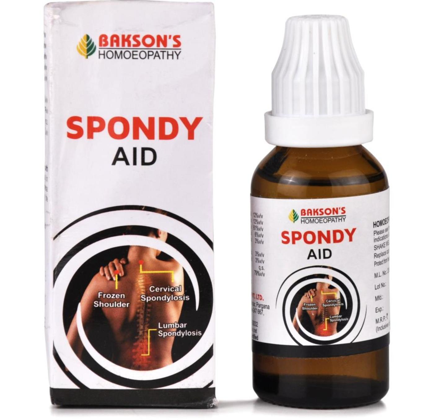 Bakson Spondy Aid Drop Homeopathic Medicine style=