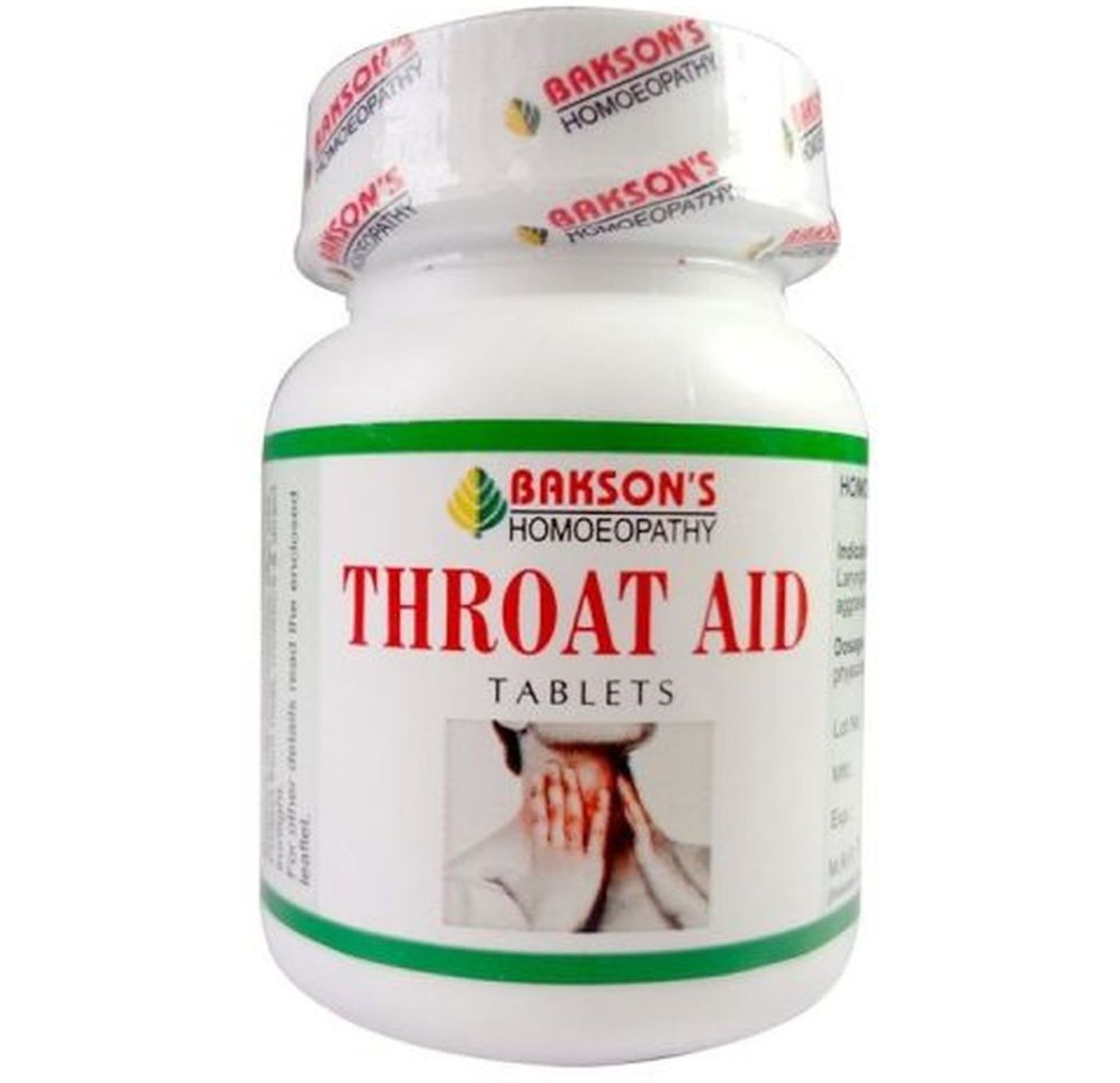 Bakson Throat Aid Tablet Homeopathic Medicine  style=
