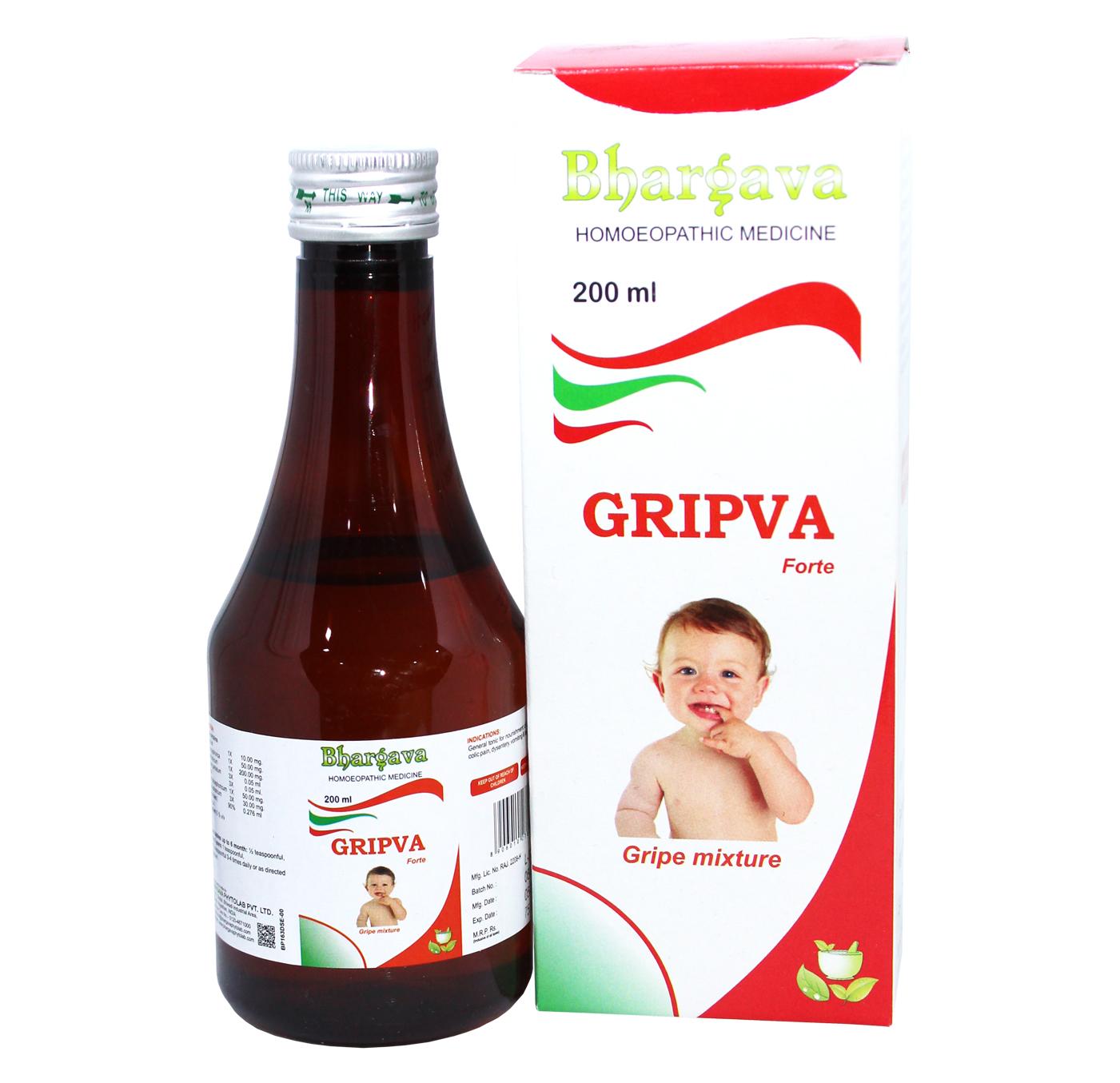 Gripva Forte Flatulence & Constipation Syrup style=