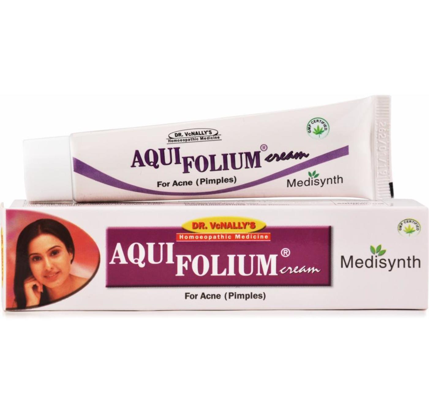 Medisynth Aqui Folium Cream Homeopathic Medicine style=