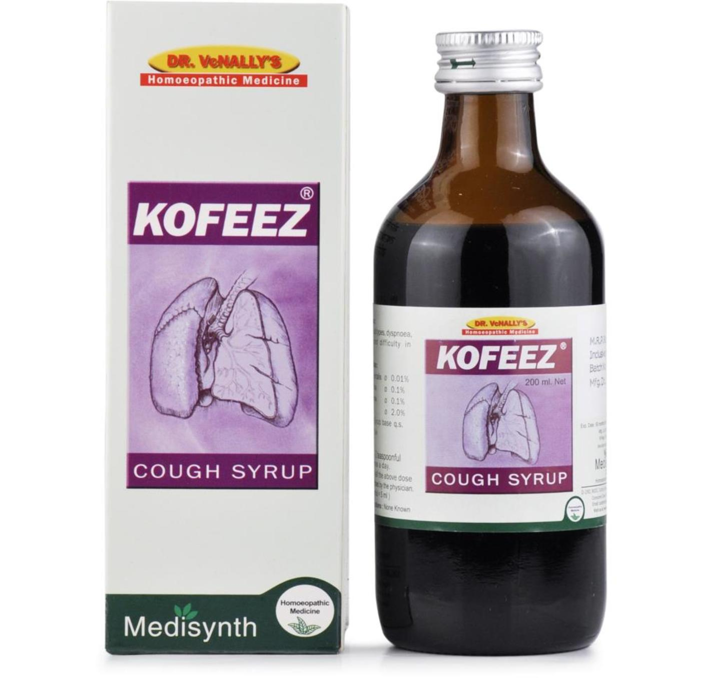 Medisynth Kofeez Cough Syrup Homeopathic Medicine style=