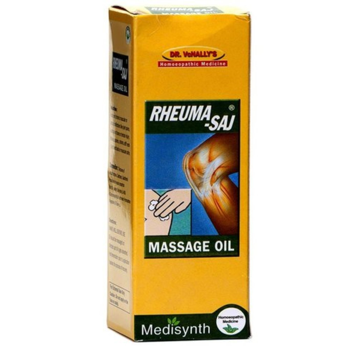 Medisynth Rheuma-Saj Massage Oil Homeopathic Medicine style=