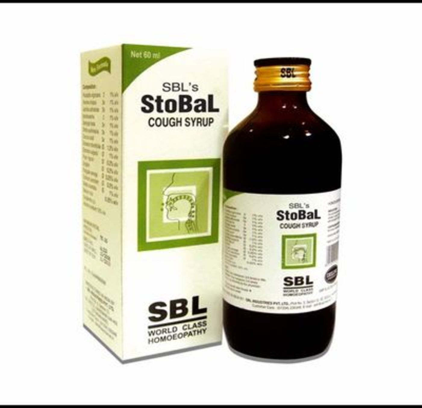 SBL Stobal Cough Syrup Homeopathic Medicine style=