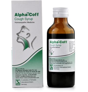 Dr Willmar Schwabe India Alpha-Coff Cough Syrup Homeopathic Medicine