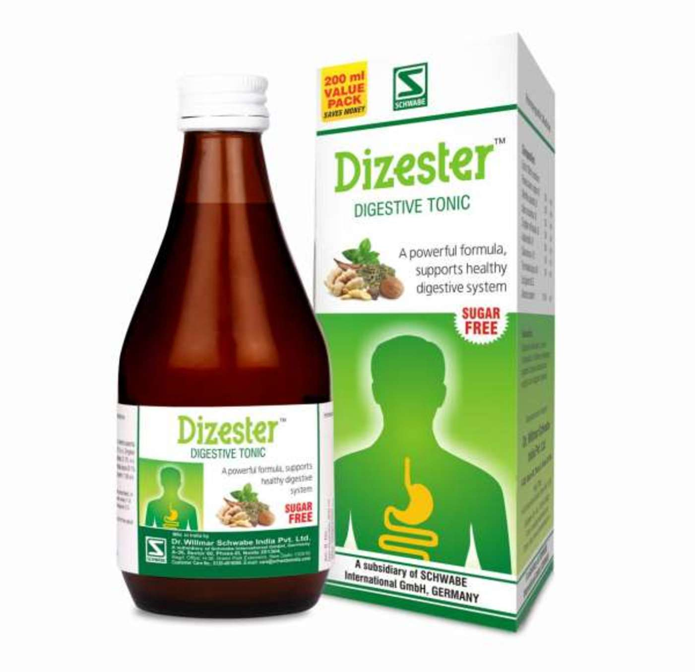 Dr Willmar Schwabe India Dizester Digestive Tonic Sugar Free Homeopathic Medicine style=